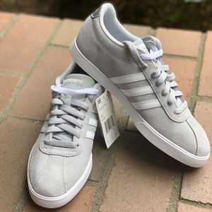 NWT Adidas Courtset Grey sneakers sz 8.5